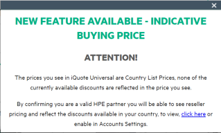 Indicative Buy Price